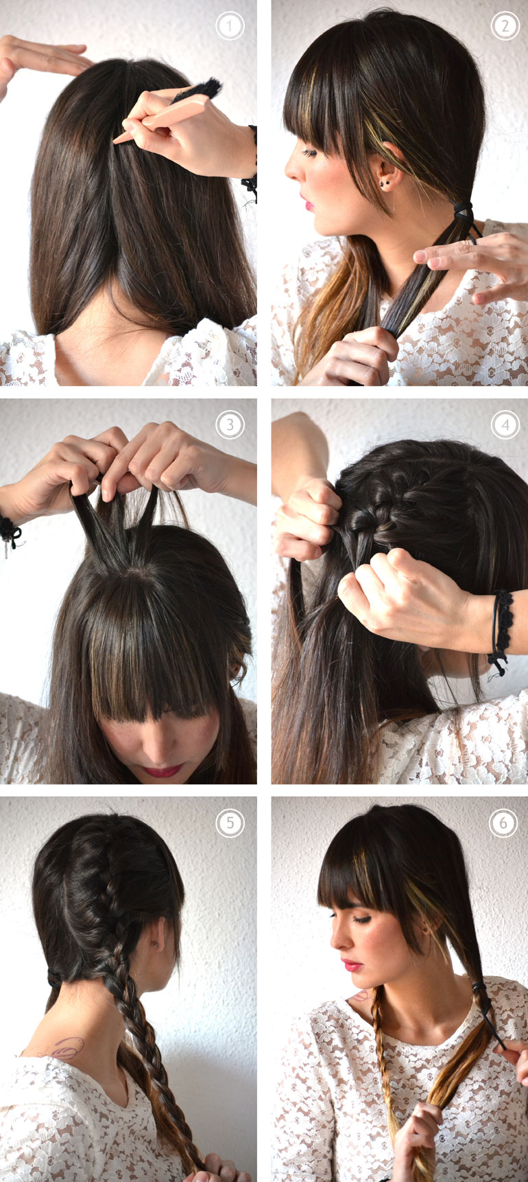 Bohemian wedding hairstyle