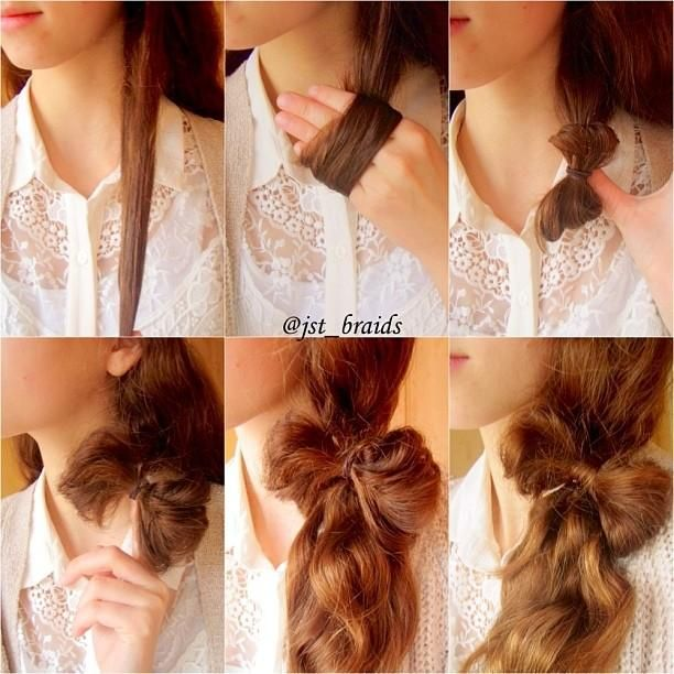 Ponytail bow over