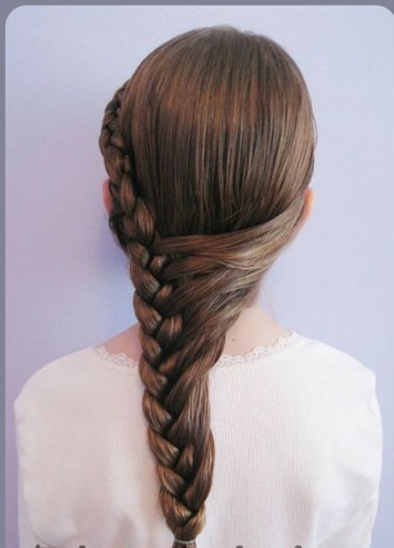 Braid bangs hairstyle for little girls over