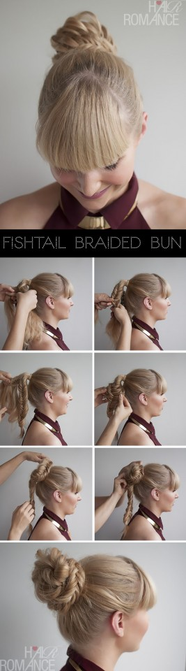 Fishtail braid pony tutorial about