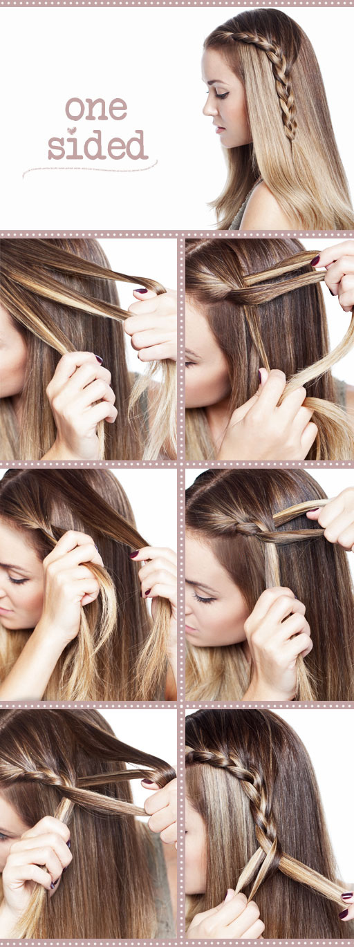 DIY style a cute side braid hairstyle over
