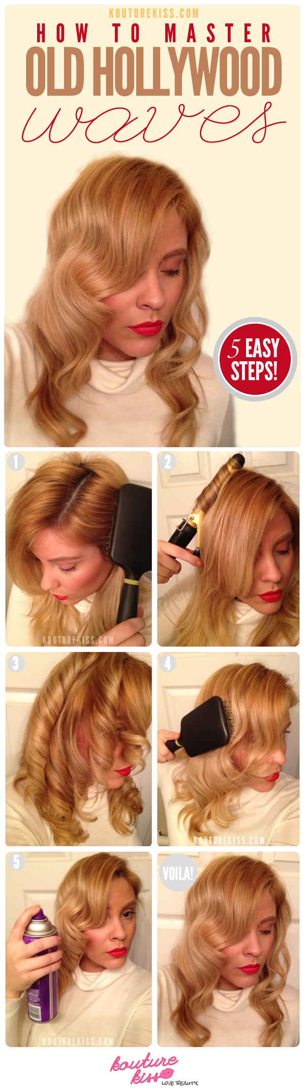 DIY Old Hollywood Waves Hairstyle Over