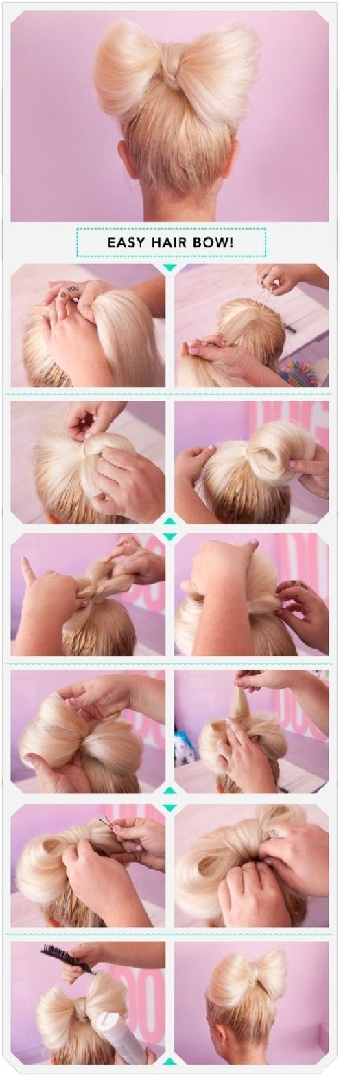 DIY Easy Hair Bow Hairstyle Over