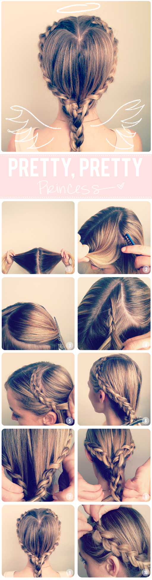 DIY Heart Braid Hairstyle Over