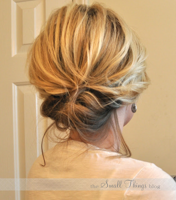 The chic updo over