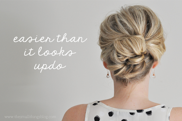 Simple updo over