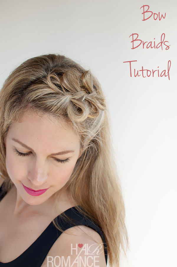 Bow braids hairstyle over