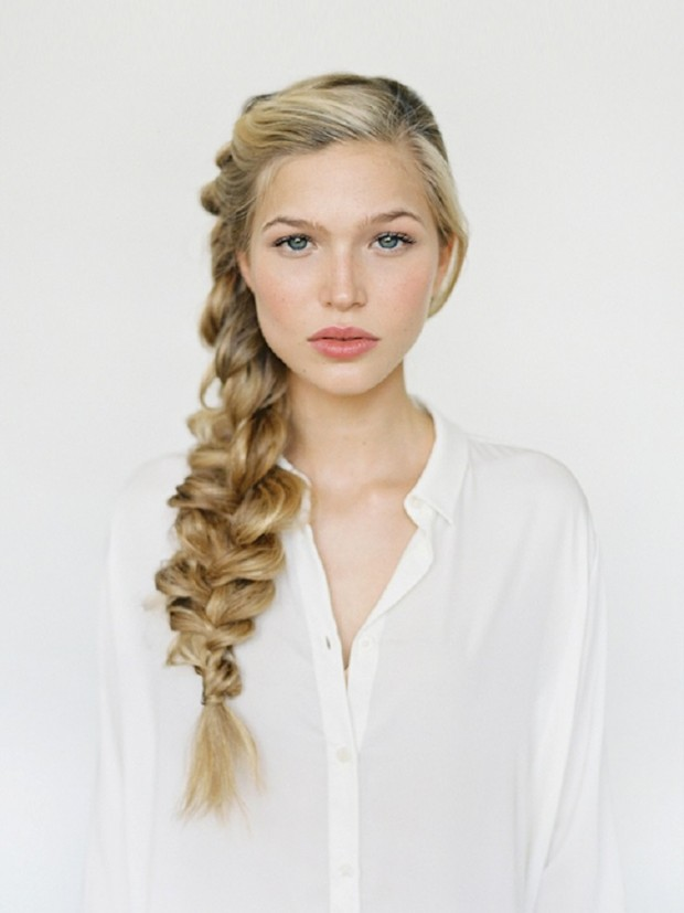 Romantic side braid hair tutorial about