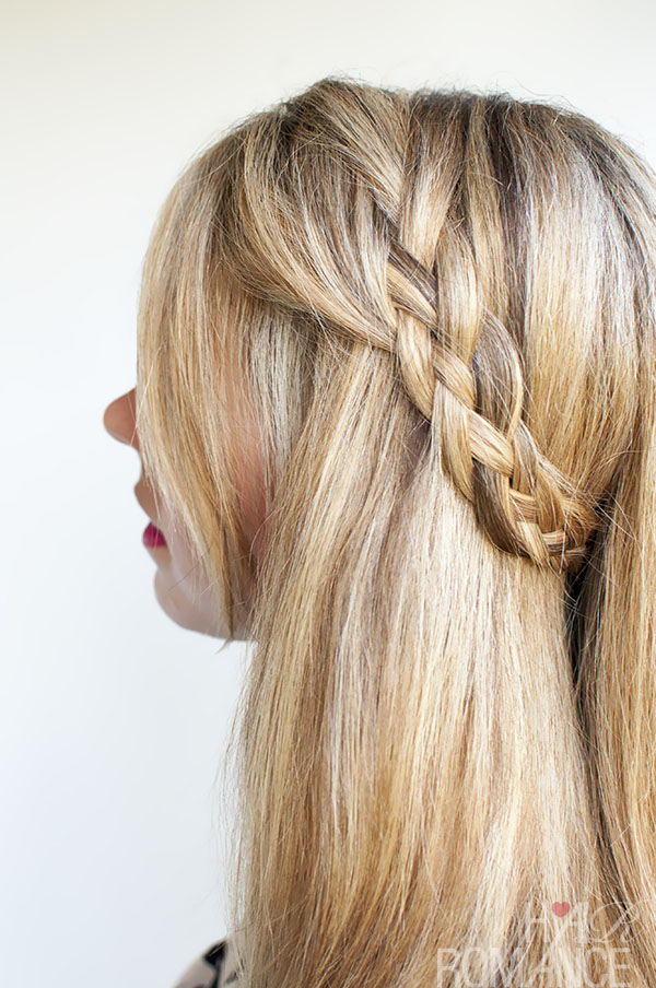 Hairstyle Tutorial - Four-strand Braids and Slide Up Braids Over