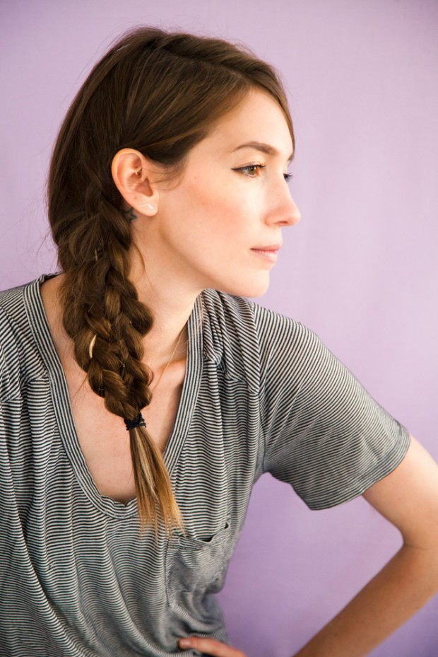 Mermaid tail braid over