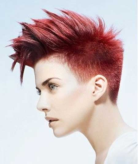 Vibrant red mohawk