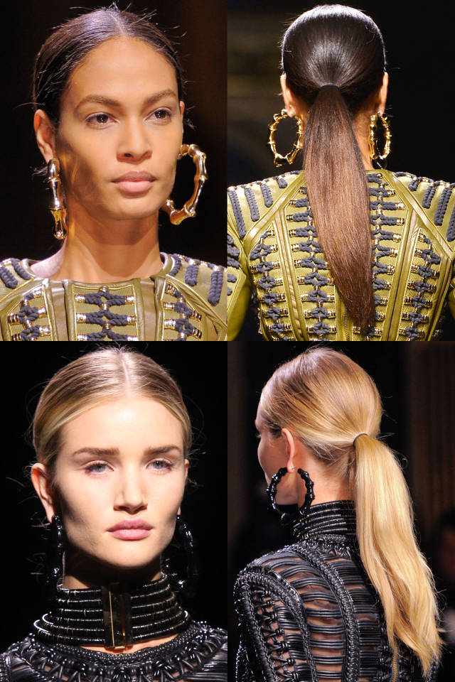Hit the trend with ponytails: mid-section ponytails