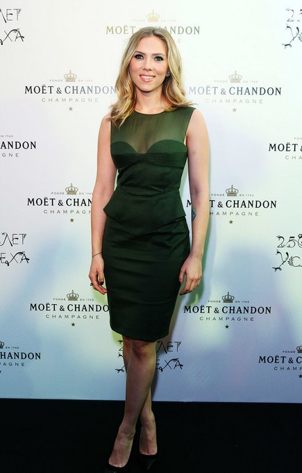 Scarlett Johansson at the Moet Chandon Anniversary Celebration, 2012