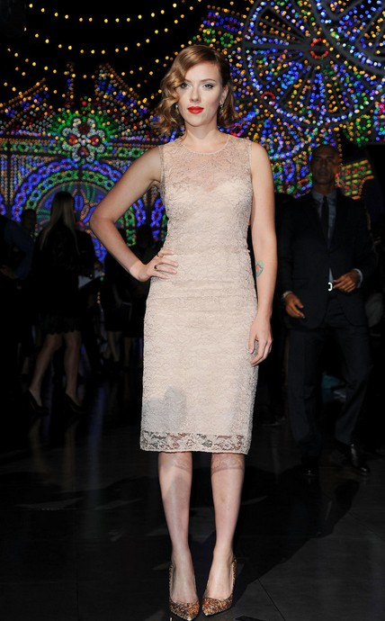 Scarlett Johansson at the Dolce & Gabbana Show 2011