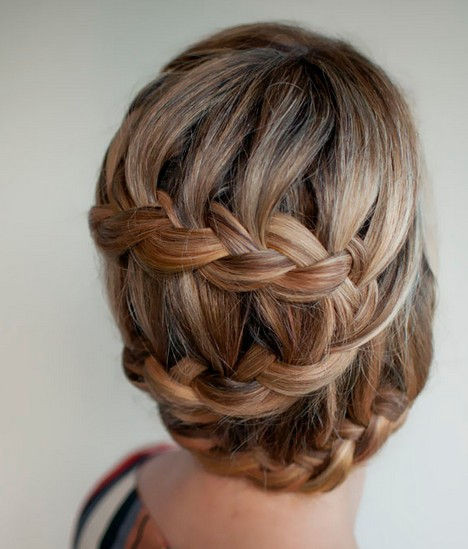 Stylish braided bun