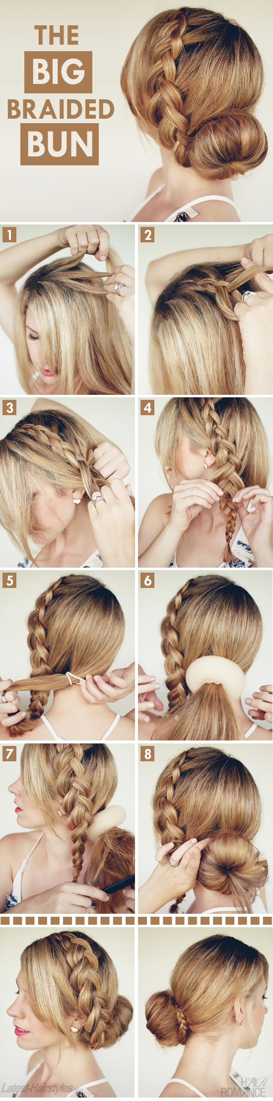Crown braid and bun