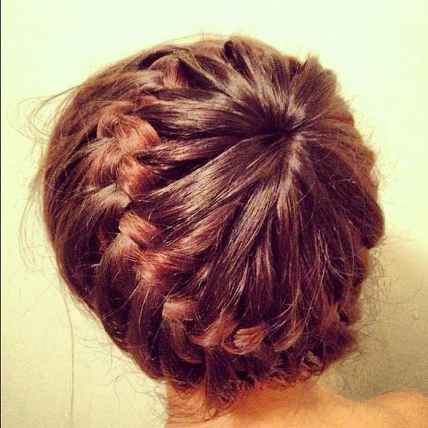 Stylish crown braid