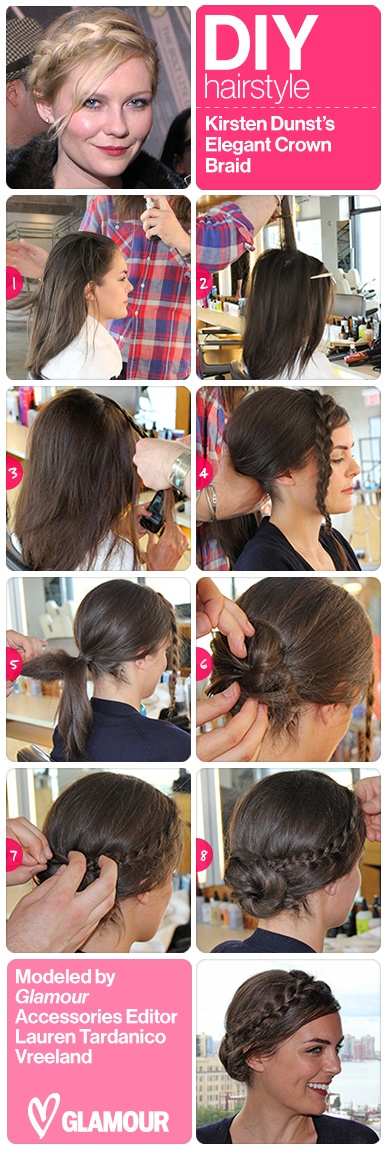 Pretty crown braid