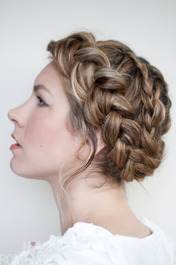 Crown braid for strands of hair