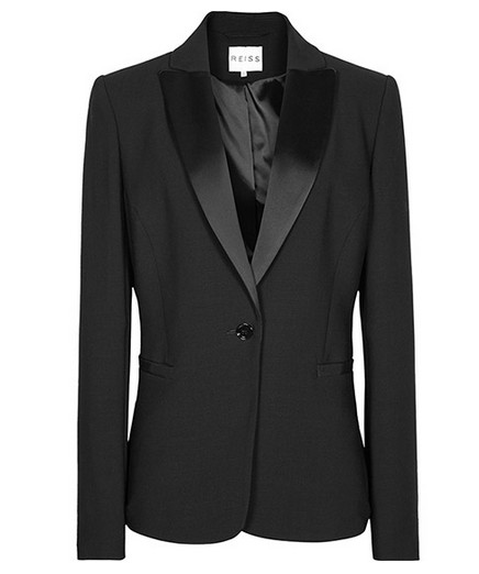 Reiss ANGELINA TUXEDO JACKET Black