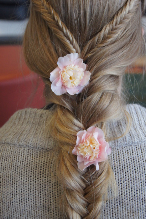 Triple braided hair
