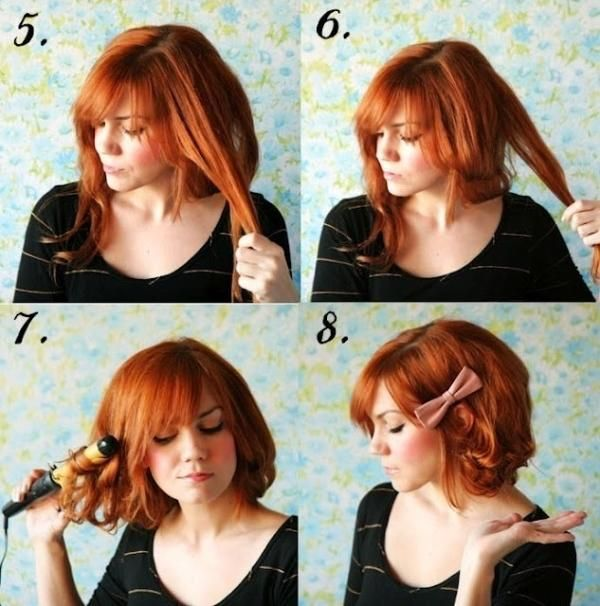 Short hairstyle without cutting