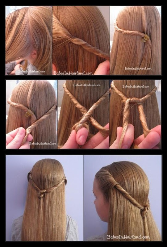 Twisted rope hairstyle