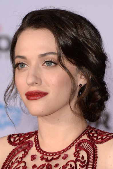 Romantic hairstyles for the bottom updo for every occasion: Braided updo by Kat Dennings