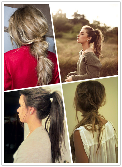 Fast hairstyles: messy ponytail