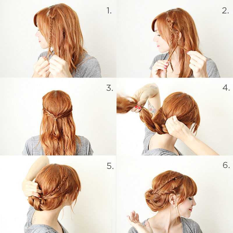 Adorable hairstyle tutorials: romantic look