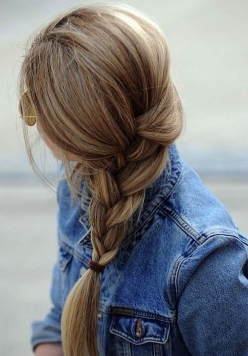 Loose braided hairstyles: loose but neat braids