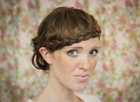 15 Tutorial for braided bangs: updos with braided bangs