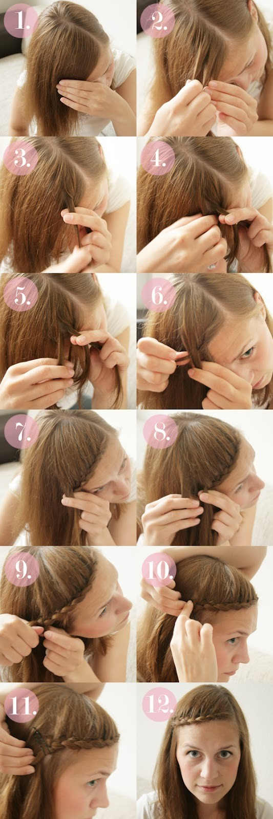 15 Braided Bangs Tutorial: Sweet Braided Hairstyles
