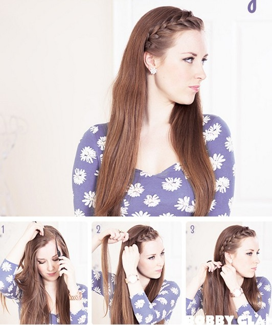 15 Tutorial for braided bangs: French Braid Fringe