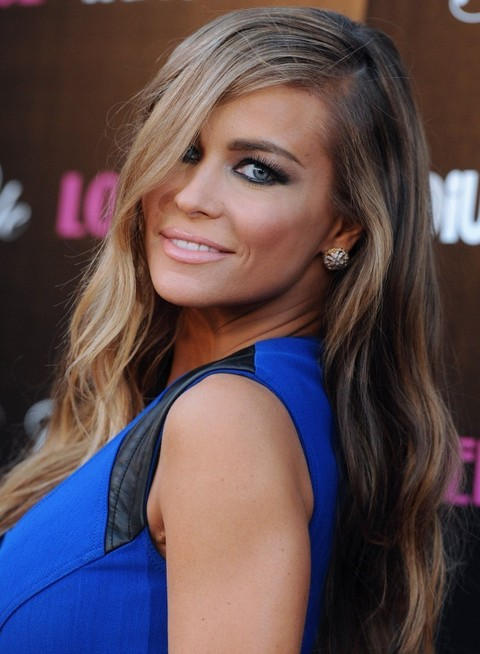 Carmen Electra Hairstyles: Waves Split Laterally