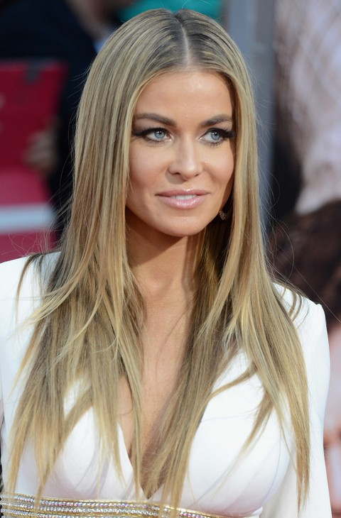 Carmen Electra Hairstyles: Middle Part Straight Hairstyle