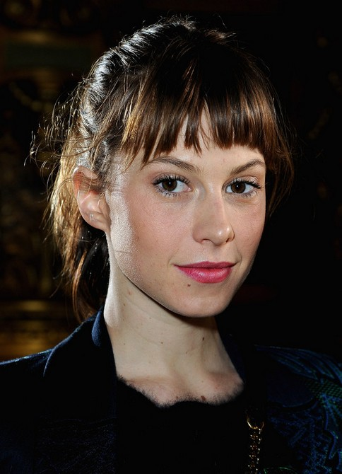 Elettra Wiedemann Long hairstyles: 2014 ponytail with cut out bangs