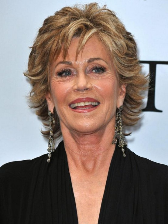 Jane Fonda's hairstyle for women over 50