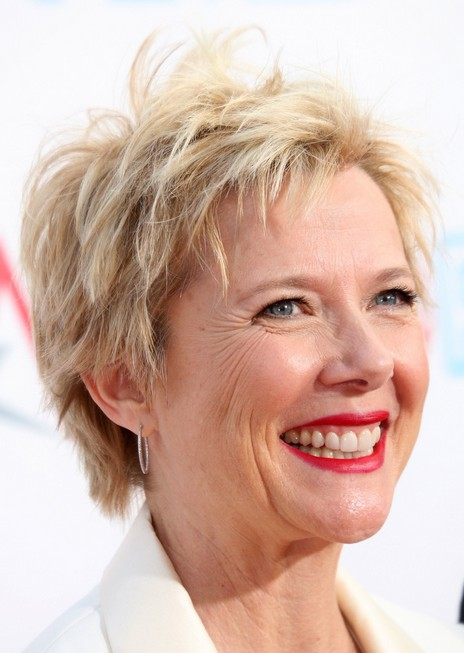 Annette Bening short haircuts for women over 50