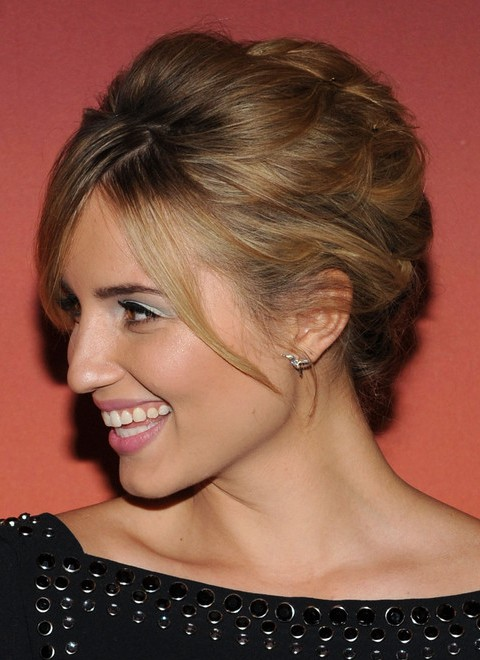 Dianna Agron Hairstyles: Pretty Bobby Pinned Updo