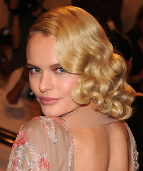 Kate Bosworth Updo Hairstyle: Retro Updo