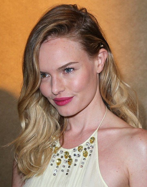 Kate Bosworth Long Hairstyle: Side Swept Hair