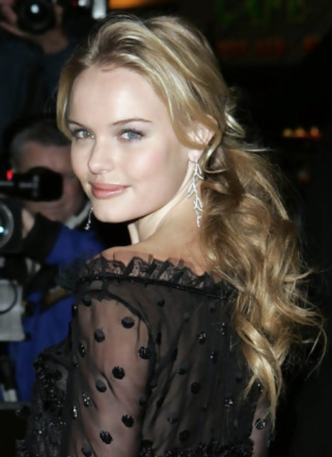 Kate Bosworth Long Hairstyle: Half Up Half Down