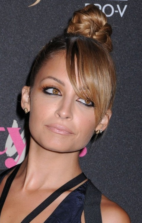 Nicole Richie Hairstyles: Sweet Braided Updo