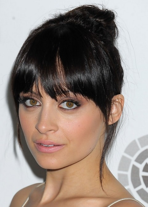 Nicole Richie Hairstyles: Raven Hair Knot