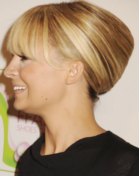 Nicole Richie Hairstyles: French Twist