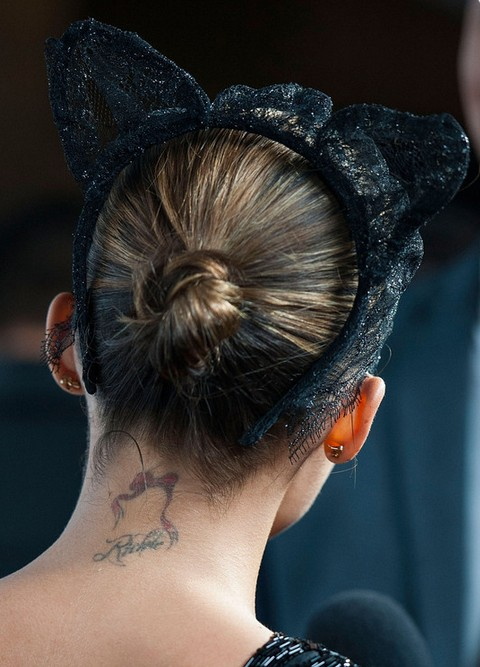 Nicole Richie Hairstyles: Twisted Bun