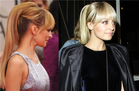 Nicole Richie Hairstyles: Pretty Ponytail