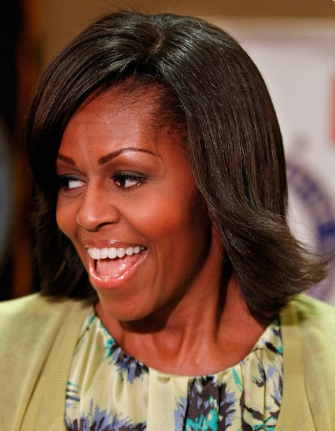 Michelle Obama Hairstyles: Feathered Flip Hairstyle