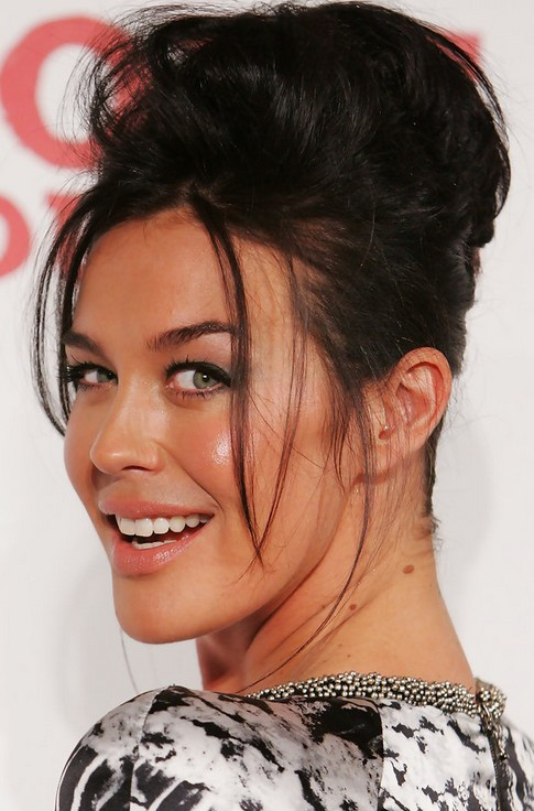 Megan Gale Long Hairstyle: Pompadour for Raven Hair